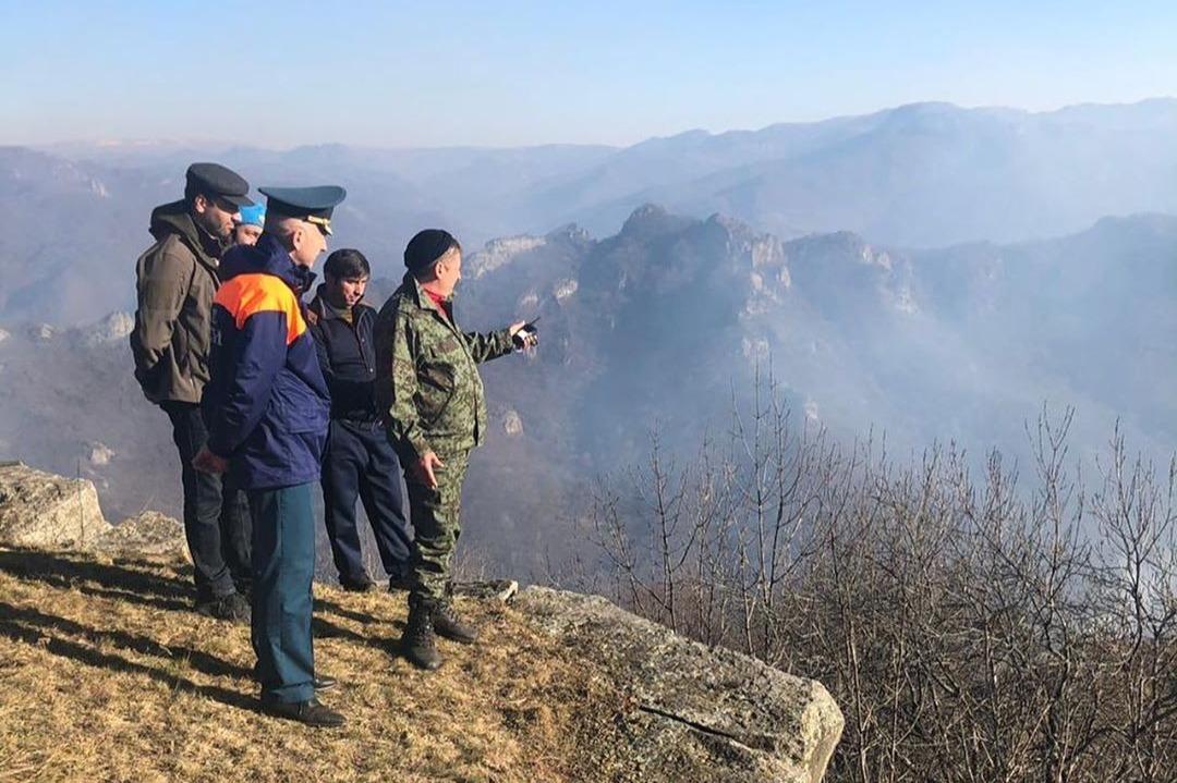 Лесной пожар в одном из районов Карачаево-Черкесии локализован на площади 7,6 га