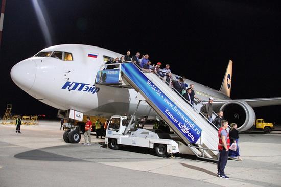 Аэропорт Махачкалы принял 1-ый широкофюзеляжный самолет